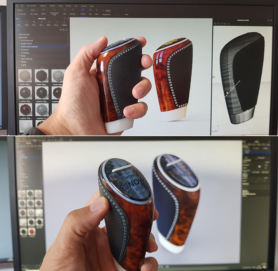 Porovnání vizualizace a 3D tisku